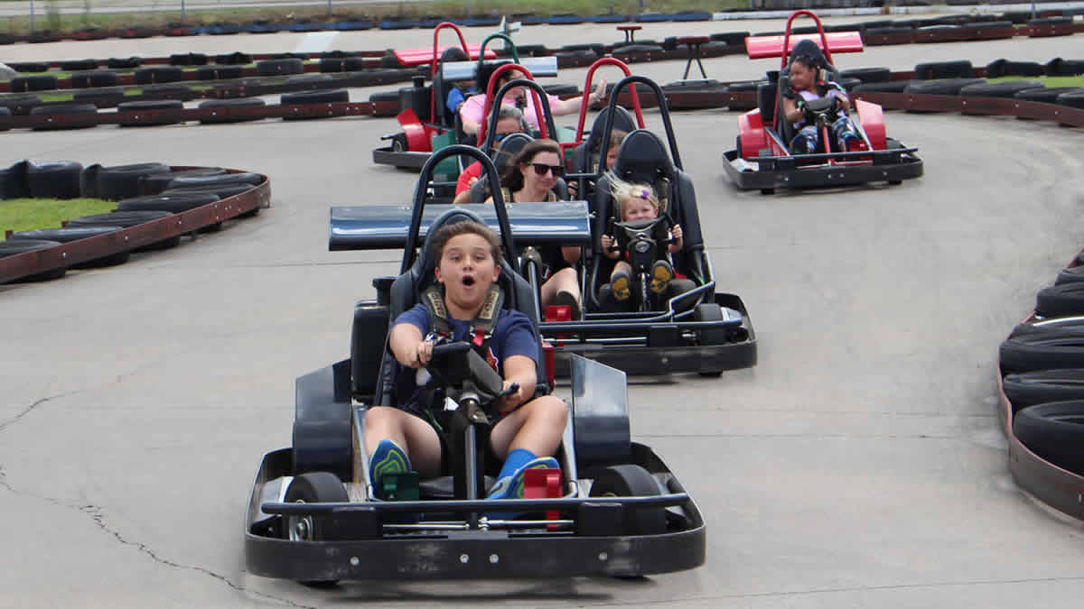 kids on go karts